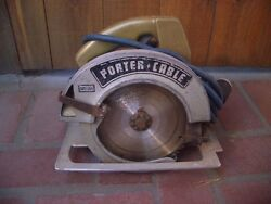Vintage Porter Cable Circular Saw With Aluminum Guide Deck