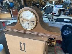 Antique Herschede Model H-850 Geared Mantle Westminster Chime Clock As Is