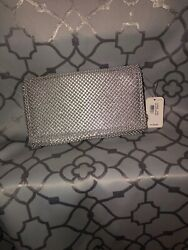 silver clutch Wristlet evening bag $15.00