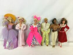 Vintage Barbie Doll, Ken And More Lot Of 6 - 70s And 60s - Free Shipping