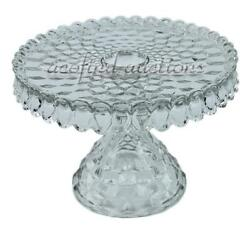 Vintage Clear Glass American Fostoria Round 10 Cake Plate - Excellent