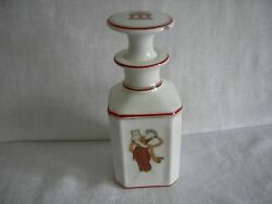 Antique French Porcelain Perfume / Scent Bottle Hand Painted