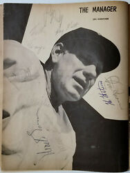 1954 New York Giants Willie Mays Monte Irvin+7 Vintage Signed Yearbook Photo Bas