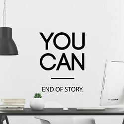 You Can Inspirational Wall Decal Sticker Quote Classroom Office Decor