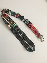 Jagermeister Lanyard With Detachable Clip Keychain Ring And Id Badge Holder New
