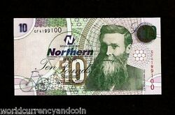 Northern Ireland 10 Pounds P206 2005 Bicycle Dunlop Unc Gb Uk Money Bank Note