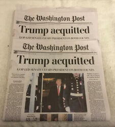 2 - Washington Post Trump Impeached Newspaper Acquitted 2/6/2020