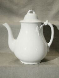 Antique Cockson And Seddon Rope And Ring White Ironstone Tea / Coffee Pot 1875-1877
