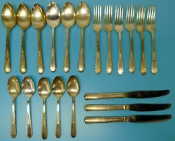 Holmes And Tuttle Silverplate 1938 Wentworth 20pc Flatware Fork Spoon Handt Mfg Co