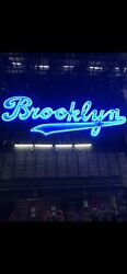 Neon BROOKLYN SIGN JIMMY KIMMEL TV SHOW Prop Rare 16' Amazing Lighting Man Cave