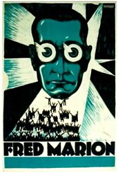 Original Vintage Poster Fred Marion Magician Hypnose C.1930