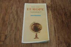Air France Europe Itinerary Route Map Vintage Retro Airline
