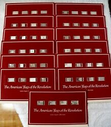 Complete 13 Cards- The American Flags Of The Revolution Mini Ingot Collection