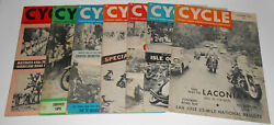 Vintage 1958 Cycle Magazines 7 Issues Harley Davidson History Indian Triumph Bsa