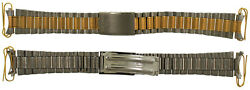 Vintage Seiko Sq Gold And Silver Tone Stainless Steel 18mm Watch Band Bracelet 14