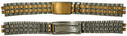 Vintage Seiko Gold And Silver Tone Stainless Steel 18mm Watch Band Bracelet 16