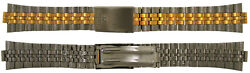Vintage Seiko Sq Gold And Silver Tone Stainless Steel 20mm Watch Band Bracelet 15