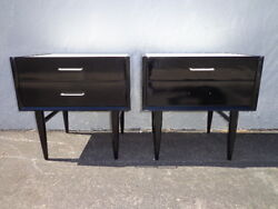 Pair Of Nightstands Mid Century Modern American Of Martinsville Bedside Tables
