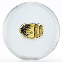 Cook Island 25 Dollars Pope Visit In Bavaria Crystal Proof Gold Coin 2006