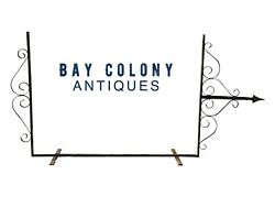 19th C Antique Victorian Wrought Iron Advertising Sign Holder