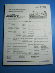 Go-tract Gt 1000 Snow Tracked Machine Operation Service And Parts Manual 85824