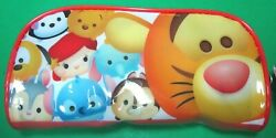 DISNEY WINNIE THE POOH TIGGER TSUM TSUM PENCIL COSMETIC VINYL ZIPPER CASE NEW $9.99
