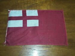 """Vintage Red Ensign Of England Mini Flags Golden State Display 4""""x6"""" Cotton Rare"""