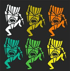 Tiki Man Car Window Decal...2 For 1 Price..pick Your Size And Color