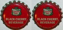 Soda Pop Bottle Caps Canada Dry Black Cherry Lot Of 2 Cork Lined New Old Stock