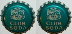 Soda Pop Bottle Caps Canada Dry Club Soda Lot Of 2 Cork Lined New Old Stock