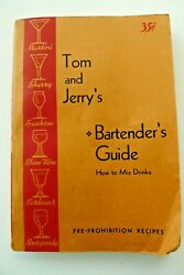 Tom And Jerry's Bartender's Guide How To Mix Drinks 1943 Raymers Old Book Store