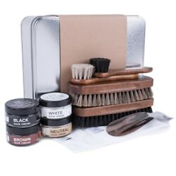 FootFitter Valet Refill Kit with Shoe Shine Brushes & Shoe Cream