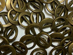 Italian Metal Button Fendi 70and039s Look Vintage Antique Brass Finish 13mm 15mm18mm