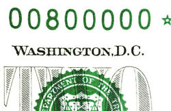 Fancy Serial Number 00800000 Binary 2 Pmg Ch Unc 63 Epq 2013 7 Of Kind Zero And039s
