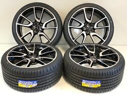 20 Wheels Rims Tires Fit Mercedes Benz S550 Amg S63 Machined Staggered 4 Black