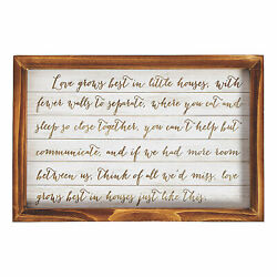 Love Grows Best In Little Houses Sign - Home Decor - 1 Piece
