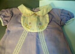 VINTAGE BABY OR DOLL CLOTHES LILAC DRESS W PANTIES 3 MOS ? OR LARGE DOLL