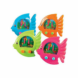 Fish Ring Toss Water Games - Classic Novelty Toys - Party Favors - 12 Pieces