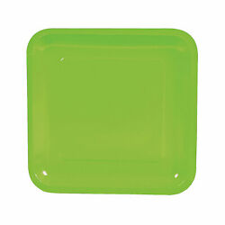 Lime Green Square Paper Dinner Plates - 18 Ct. - Party Supplies - 18 Pieces