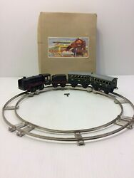 Vintage Distler Wind Up Train Set - Made In Us Zone, Germany