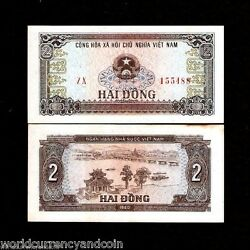 Vietnam 2 Dong P85 1980 Replacement Zx Boat River Unc Tone Currency Money Note