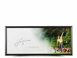 Authentic Jack Nicklaus Signed Framed Photo 46x20- The Putt