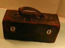 Late 1800's Doctor's Medicine Kit In Leather Case, Hubbardsville, Ny
