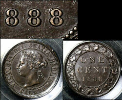 Nice Collection - Canada Large Cent - 1888 - Repunched Last 8 - Au B364