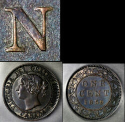 Nice Collection - Canada Large Cent - 1859 Repunched N Cent - Au B614
