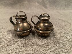 Antique Amb Miniature Sterling Silver Jersey Shaker Pouring Rare 2