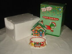 2004 Dept 56 Mandmand039s Candy Store Lighted House And Dish Christmas Village In Box