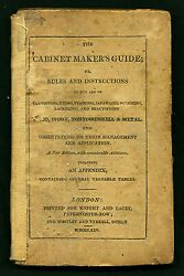 George A Siddons The Cabinet Maker's Guide Or, Rules And Instructions 1825