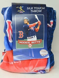 Mlb Boston Red Sox Mookie Betts Silk Touch Throw Blanket 50 In X 60 In