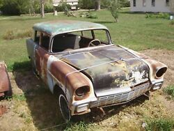 1956 Chevrolet Bel Air 2 Door Wagon - Body And Rolling Chassis - Gasser Or Restore